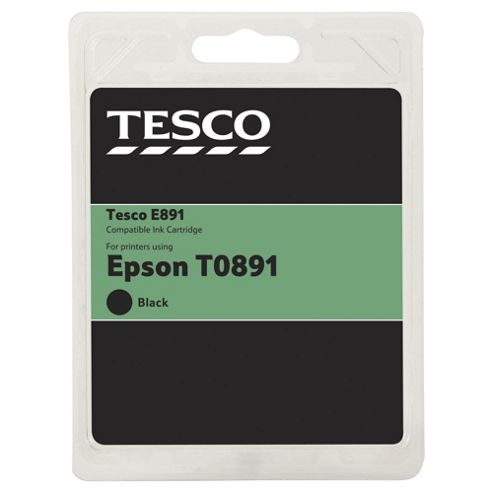 Tesco E432 Black Printer Ink Cartridge (Compatible with printers using Epson T0891 Black Cartridge)