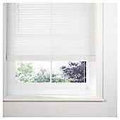 Wood Venetian Blind 120cm 35mm Slats, Pure White