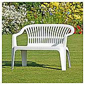 Plastic Garden Bench - White