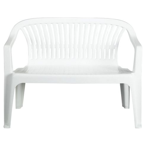 White plastic outdoor benches picture for Outdoor plastic bench seats
