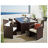 Cuba 6 Seater Hideaway Set - Brown