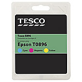 Tesco E442 Colour Printer Ink Cartridge Multipack (Compatible with printers using Epson T0892 / T0893 / T0894 CMY Cartridges)