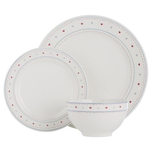 Tesco Haven Earthenware 12 Piece, 4 Person Dinner Set