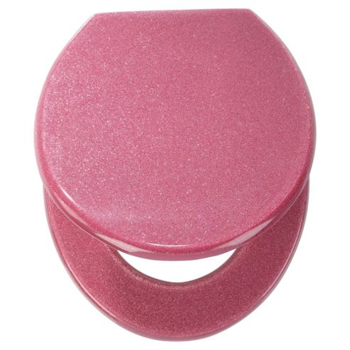 buy tesco glitter toilet seat pink from our toilet seats. Black Bedroom Furniture Sets. Home Design Ideas