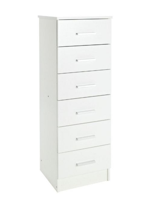 Kit Form Bella 6 Drawer Chest - White