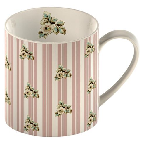Katie Alice Pink Stripe Set of 4 Can Mugs