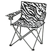 Tesco Folding Camping Chair, Zebra