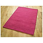 Tesco Rugs Wool Rug 100 x 150cm, Fuchsia