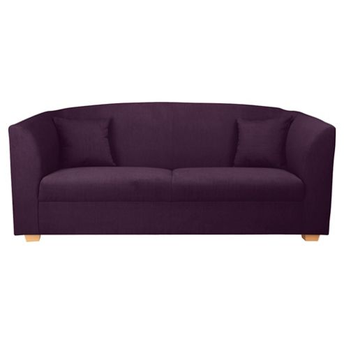 Stonebridge Large Fabric Sofa, Aubergine