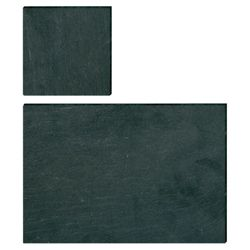 Creative Tops Set of 4 Slate Placemats and Coasters, Black