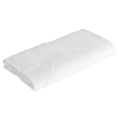 Tesco Loves Baby Fitted Jersey Sheet Cot Bed, Cream