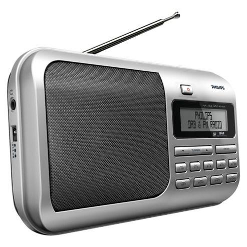 Philips AE4800 DAB Radio Silver/Black