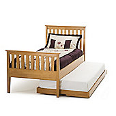 Serene Furnishings Grace Single Guest Bed Frame with High Foot End - Golden Cherry