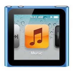 Apple MC525QB/A iPod Nano 8GB 6th Generation - Blue