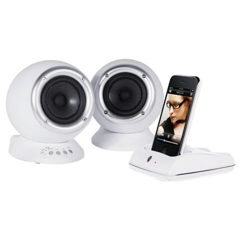 Roth Audio RCP2W CHARLiE 2.0 Speaker System with Wireless Dock - White