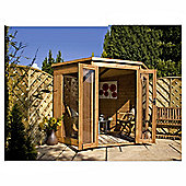 7x7 Corner Summerhouse with installation