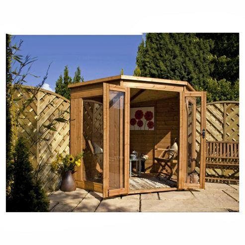 7x7 Corner Summerhouse with installation