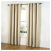 "Tesco Plain Canvas Unlined Eyelet Curtains W117xL229cm (46x90""), Cream"