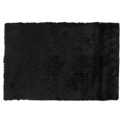 Tesco Rugs Luxurious Shaggy Rug 70x140cm Black