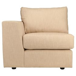 Brad Fabric Modular Sofa Arm Unit, Natural Lhf