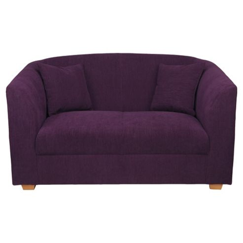 Stonebridge Small Fabric Sofa, Aubergine