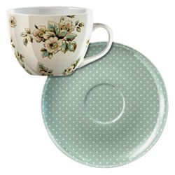 Katie Alice Cottage Flowers Breakfast Cup and Saucer Set
