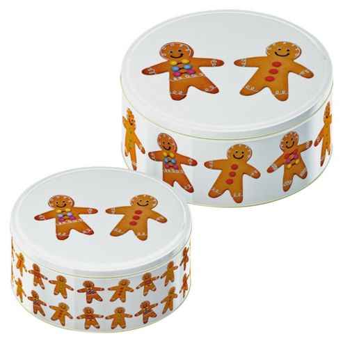 Creative Tops Gingerbread Set of 2 Cake Tins