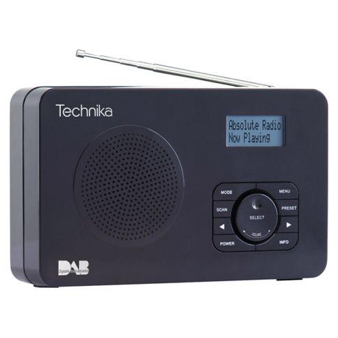 Technika DAB121 DAB Radio - Black
