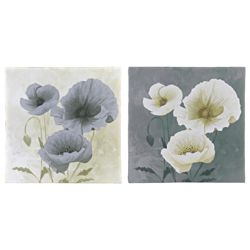 Pack Of 2 Floral Images Canvas 40X40Cm