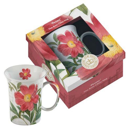 Kew Gardens Gift Boxed Peony Fine Bone China Mugs