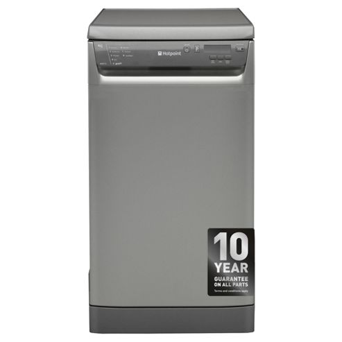 Hotpoint SDD910G Slimline Dishwasher, A Energy Rating, Graphite