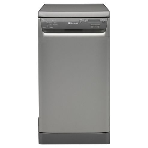 Hotpoint SDD910G Slimline Dishwasher, A Energy Rating. Graphite