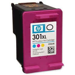 HP 301XL Priniter Ink Cartridge - Tri-colour (CH564EE)