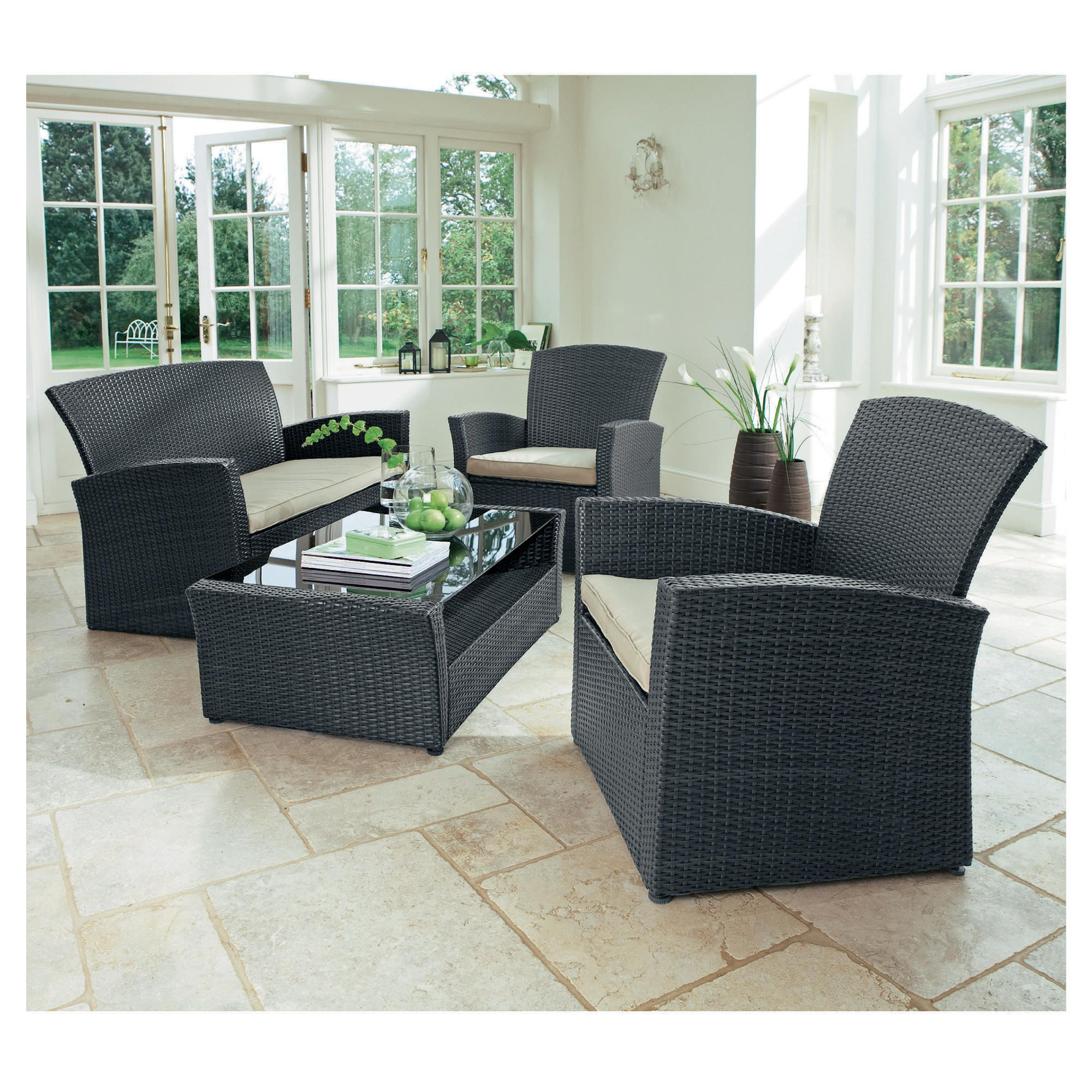 Miami Lounging Set, Grey at Tesco Direct