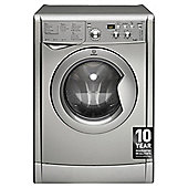 Indesit IWDD7143S Washer Dryer, 7Kg Wash Load, 1400 RPM Spin, B Energy Rating, Silver