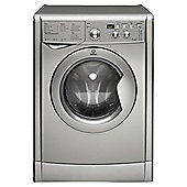Indesit IWDD7143S Freestanding Washer Dryer, 7Kg Wash Load, B Energy Rating, Silver