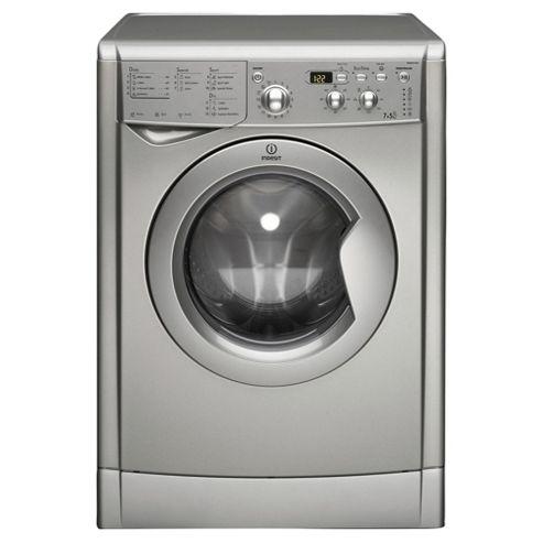 Indesit Ecotime Washer Dryer, IWDD7143S, 7KG Load, Silver