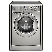 Indesit IWDD 7143 S Washer Dryer, 7kg Wash Load, 1400 RPM Spin, B Energy Rating. Silver