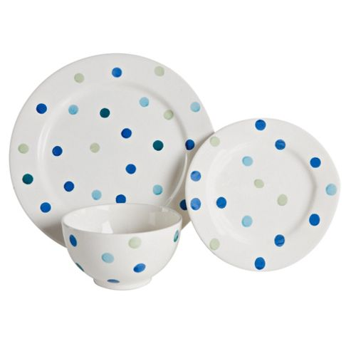 Tesco Circus 12 Piece, 4 Person Dinner Set - Blue
