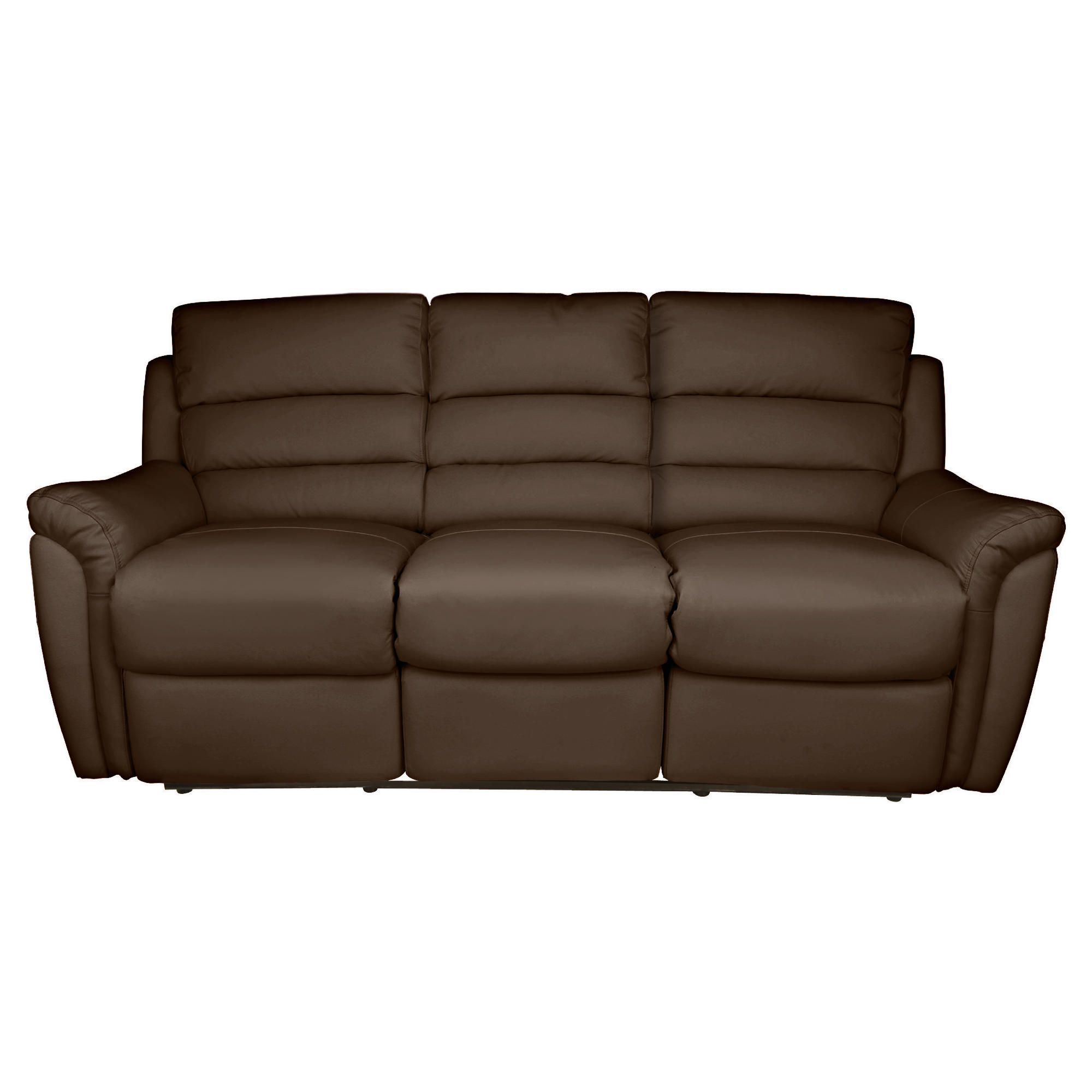 Chloe Large Recliner Sofa Leather, Brown at Tesco Direct