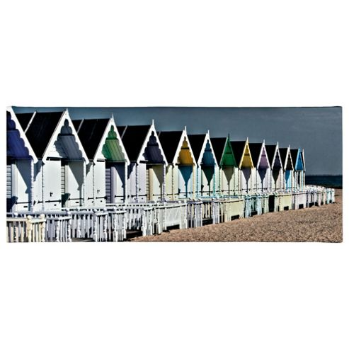 Beach Hut Printed Canvas 100X40Cm