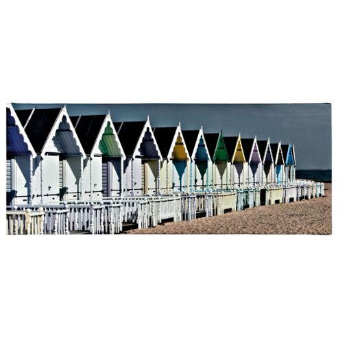 Beach Hut Printed Canvas 100X40Cm
