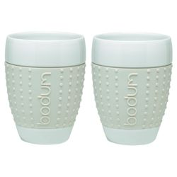 Bodum Pavina Set of 2 Mugs, White