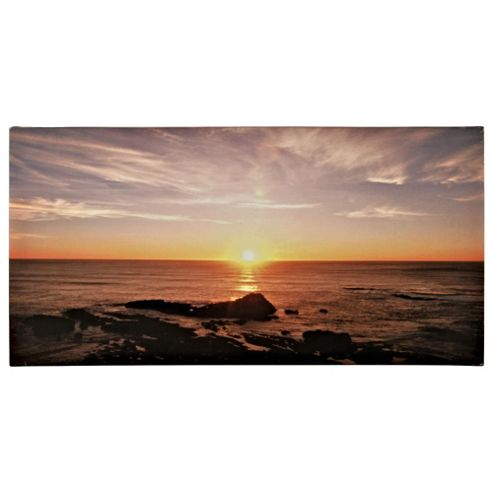 Sunset Beach Canvas 50X100Cm