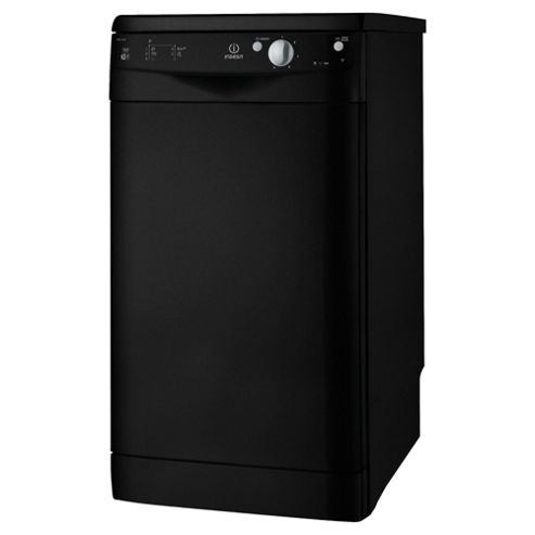 Indesit IDS 105 K Slimline Dishwasher, A Energy Rating. Black