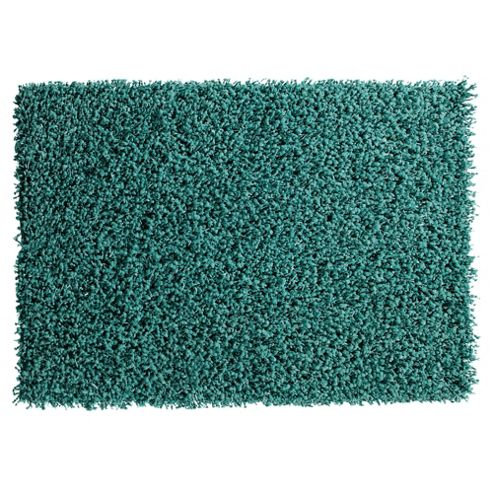 Tesco Rugs Orbit Shaggy Rug Teal 120x170cm