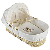 Clair de lune Toy Box Moses Basket, Cream