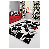 Tesco Rugs Poppy Rug 150X240Cm Black