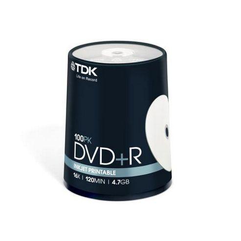 TDK 4.7 GB 16x Inkjet Printable 100 DVD+R Cake