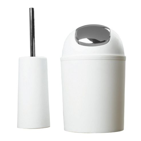 Tesco White Toilet Brush And Bin - Pre Bundle